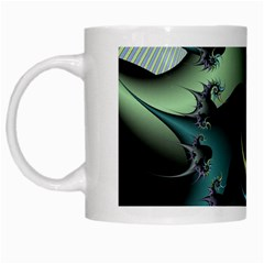 Fractal Image With Sharp Wheels White Mugs by Simbadda