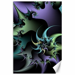 Fractal Image With Sharp Wheels Canvas 24  X 36  by Simbadda