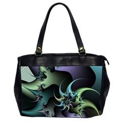 Fractal Image With Sharp Wheels Office Handbags (2 Sides)  by Simbadda