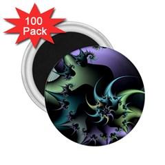 Fractal Image With Sharp Wheels 2 25  Magnets (100 Pack)  by Simbadda