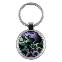 Fractal Image With Sharp Wheels Key Chains (round)  by Simbadda