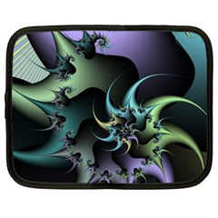 Fractal Image With Sharp Wheels Netbook Case (xxl)  by Simbadda