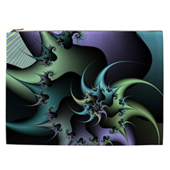 Fractal Image With Sharp Wheels Cosmetic Bag (xxl)  by Simbadda