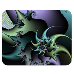Fractal Image With Sharp Wheels Double Sided Flano Blanket (medium)  by Simbadda