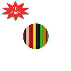 Stripes Colorful Striped Background Wallpaper Pattern 1  Mini Buttons (10 Pack)  by Simbadda