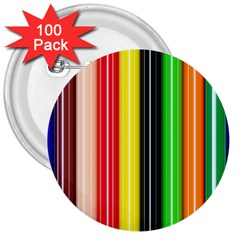 Stripes Colorful Striped Background Wallpaper Pattern 3  Buttons (100 Pack)  by Simbadda