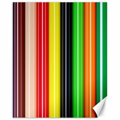 Stripes Colorful Striped Background Wallpaper Pattern Canvas 16  X 20   by Simbadda