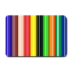 Stripes Colorful Striped Background Wallpaper Pattern Small Doormat  by Simbadda