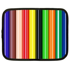 Stripes Colorful Striped Background Wallpaper Pattern Netbook Case (xxl)  by Simbadda