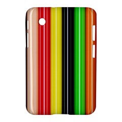 Stripes Colorful Striped Background Wallpaper Pattern Samsung Galaxy Tab 2 (7 ) P3100 Hardshell Case  by Simbadda
