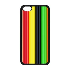 Stripes Colorful Striped Background Wallpaper Pattern Apple Iphone 5c Seamless Case (black) by Simbadda