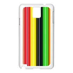 Stripes Colorful Striped Background Wallpaper Pattern Samsung Galaxy Note 3 N9005 Case (white) by Simbadda