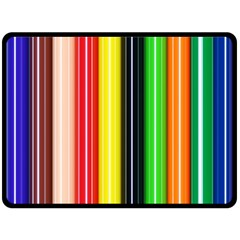Stripes Colorful Striped Background Wallpaper Pattern Double Sided Fleece Blanket (large)  by Simbadda