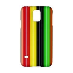 Stripes Colorful Striped Background Wallpaper Pattern Samsung Galaxy S5 Hardshell Case  by Simbadda