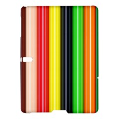 Stripes Colorful Striped Background Wallpaper Pattern Samsung Galaxy Tab S (10 5 ) Hardshell Case  by Simbadda