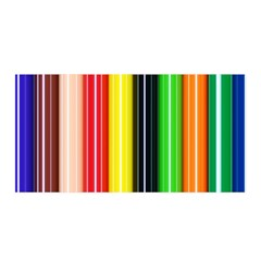 Stripes Colorful Striped Background Wallpaper Pattern Satin Wrap by Simbadda