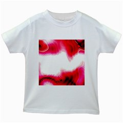 Abstract Pink Page Border Kids White T Shirts