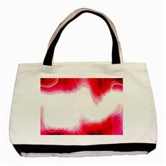 Abstract Pink Page Border Basic Tote Bag by Simbadda