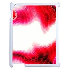 Abstract Pink Page Border Apple Ipad 2 Case (white) by Simbadda