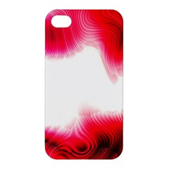 Abstract Pink Page Border Apple Iphone 4/4s Premium Hardshell Case by Simbadda