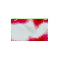 Abstract Pink Page Border Cosmetic Bag (xs) by Simbadda