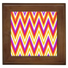 Colorful Chevrons Zigzag Pattern Seamless Framed Tiles by Simbadda