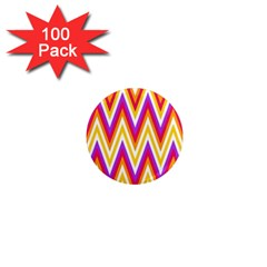 Colorful Chevrons Zigzag Pattern Seamless 1  Mini Magnets (100 Pack)  by Simbadda