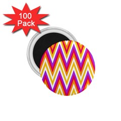Colorful Chevrons Zigzag Pattern Seamless 1 75  Magnets (100 Pack)  by Simbadda