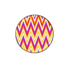 Colorful Chevrons Zigzag Pattern Seamless Hat Clip Ball Marker (10 Pack) by Simbadda