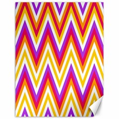 Colorful Chevrons Zigzag Pattern Seamless Canvas 12  X 16   by Simbadda