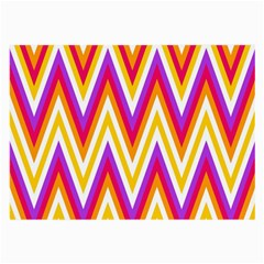 Colorful Chevrons Zigzag Pattern Seamless Large Glasses Cloth (2 Side) by Simbadda