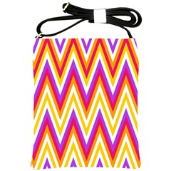 Colorful Chevrons Zigzag Pattern Seamless Shoulder Sling Bags by Simbadda