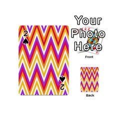 Colorful Chevrons Zigzag Pattern Seamless Playing Cards 54 (mini)  by Simbadda