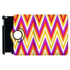Colorful Chevrons Zigzag Pattern Seamless Apple Ipad 3/4 Flip 360 Case by Simbadda