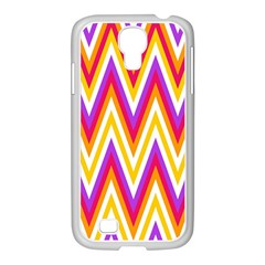 Colorful Chevrons Zigzag Pattern Seamless Samsung Galaxy S4 I9500/ I9505 Case (white) by Simbadda