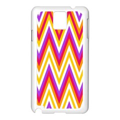 Colorful Chevrons Zigzag Pattern Seamless Samsung Galaxy Note 3 N9005 Case (white) by Simbadda