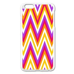 Colorful Chevrons Zigzag Pattern Seamless Apple Iphone 6 Plus/6s Plus Enamel White Case by Simbadda