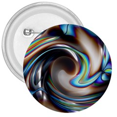 Twirl Liquid Crystal 3  Buttons by Simbadda