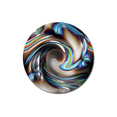 Twirl Liquid Crystal Magnet 3  (round) by Simbadda