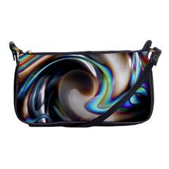 Twirl Liquid Crystal Shoulder Clutch Bags by Simbadda