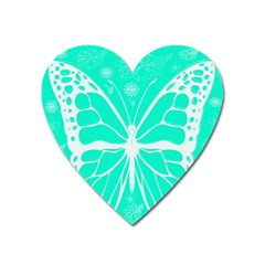 Butterfly Cut Out Flowers Heart Magnet by Simbadda