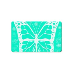 Butterfly Cut Out Flowers Magnet (name Card) by Simbadda