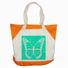 Butterfly Cut Out Flowers Accent Tote Bag by Simbadda