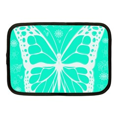 Butterfly Cut Out Flowers Netbook Case (medium)  by Simbadda