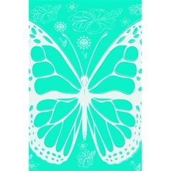 Butterfly Cut Out Flowers 5 5  X 8 5  Notebooks by Simbadda