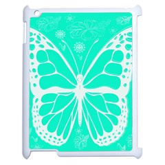 Butterfly Cut Out Flowers Apple Ipad 2 Case (white) by Simbadda