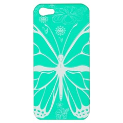 Butterfly Cut Out Flowers Apple Iphone 5 Hardshell Case by Simbadda