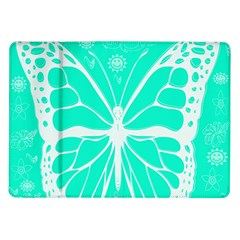 Butterfly Cut Out Flowers Samsung Galaxy Tab 10 1  P7500 Flip Case by Simbadda