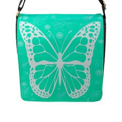 Butterfly Cut Out Flowers Flap Messenger Bag (l)  by Simbadda