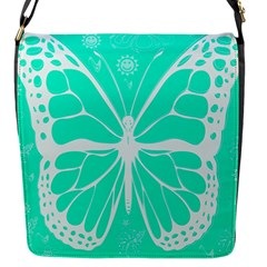 Butterfly Cut Out Flowers Flap Messenger Bag (s) by Simbadda